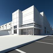 Butik och lagerbyggnad 3d model