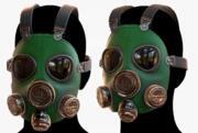 Gas mask respirator scifi futuristic 3D model 3d model