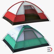 Camping Tents Set 3d model