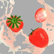 Splash Strawberry modelo 3d