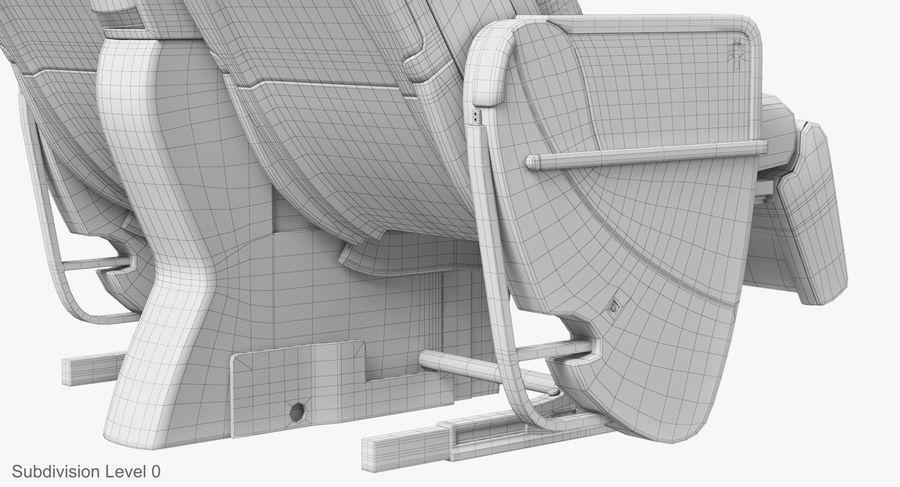 비행기 의자 royalty-free 3d model - Preview no. 44