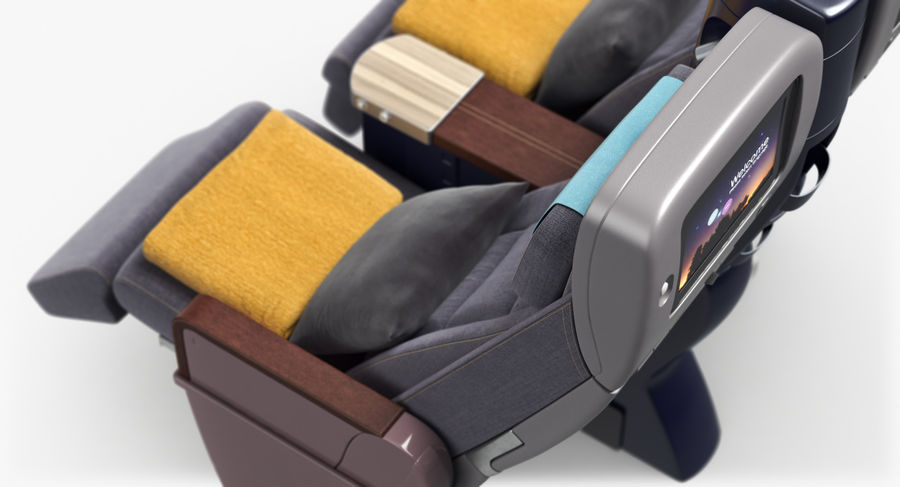 비행기 의자 royalty-free 3d model - Preview no. 32
