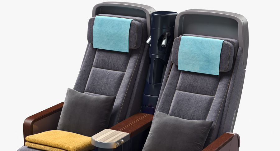 비행기 의자 royalty-free 3d model - Preview no. 20