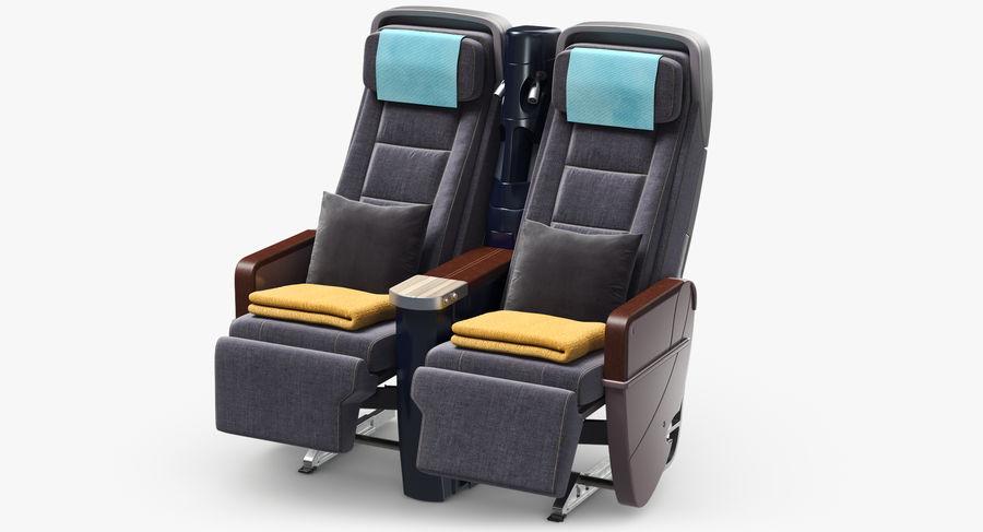 비행기 의자 royalty-free 3d model - Preview no. 12