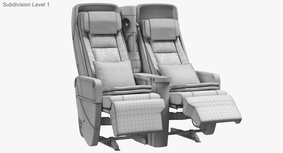 비행기 의자 royalty-free 3d model - Preview no. 37