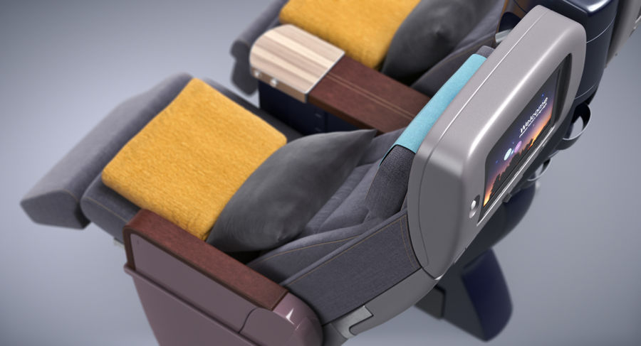 비행기 의자 royalty-free 3d model - Preview no. 8