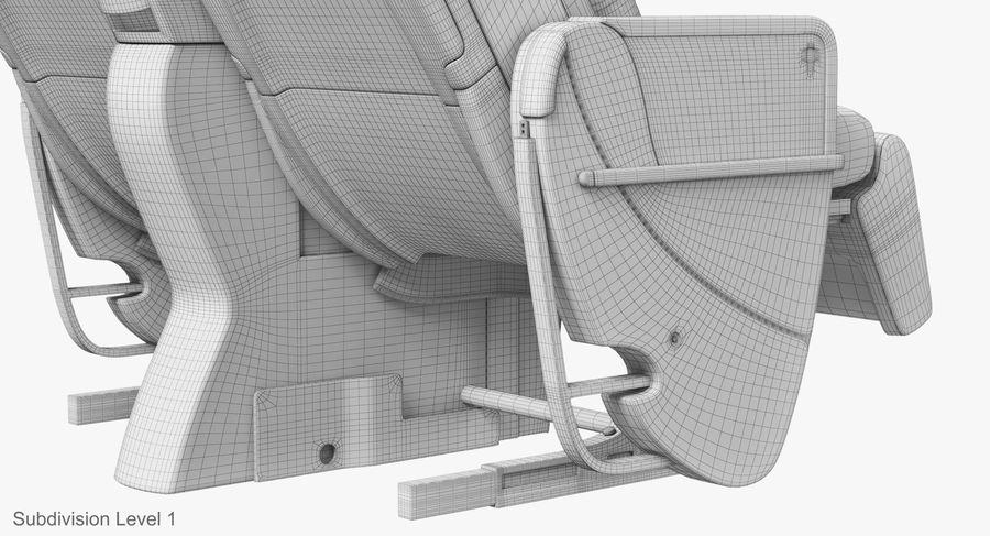 비행기 의자 royalty-free 3d model - Preview no. 45