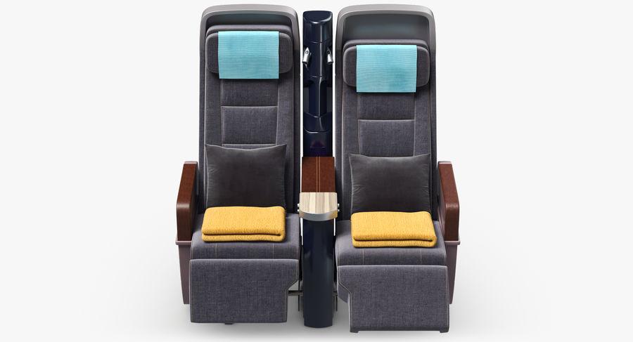 비행기 의자 royalty-free 3d model - Preview no. 14