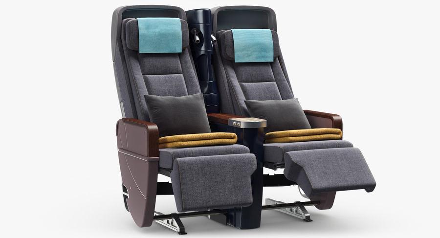 비행기 의자 royalty-free 3d model - Preview no. 9
