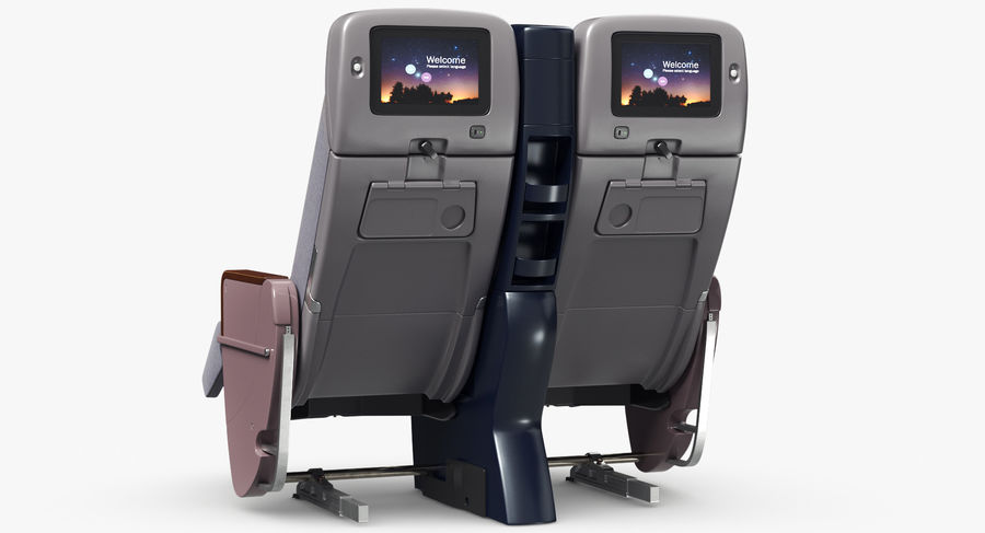 비행기 의자 royalty-free 3d model - Preview no. 15