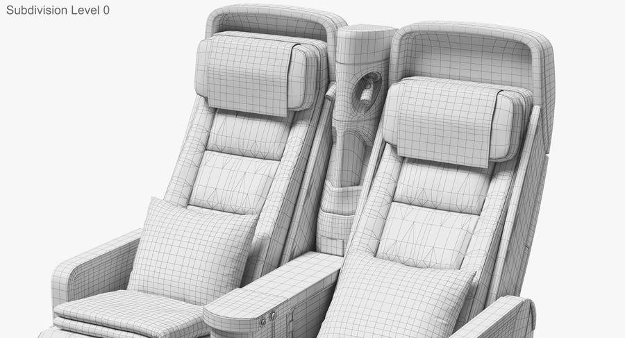 비행기 의자 royalty-free 3d model - Preview no. 40