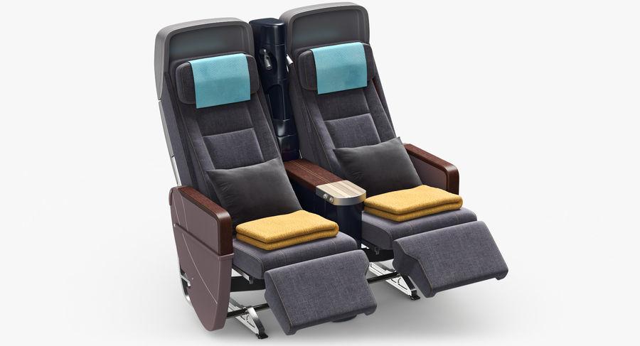 비행기 의자 royalty-free 3d model - Preview no. 13