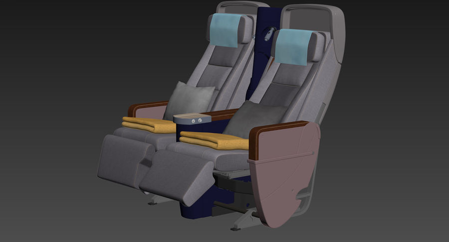 비행기 의자 royalty-free 3d model - Preview no. 53