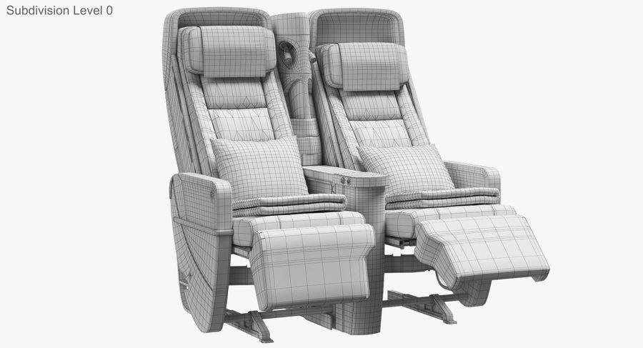비행기 의자 royalty-free 3d model - Preview no. 36