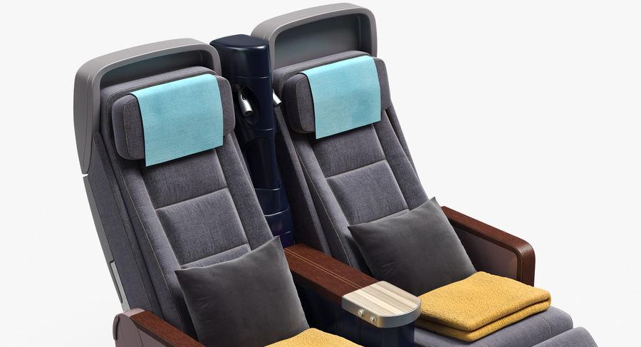 비행기 의자 royalty-free 3d model - Preview no. 21