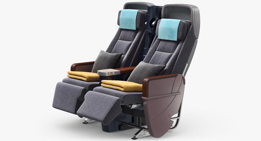 비행기 의자 royalty-free 3d model - Preview no. 2