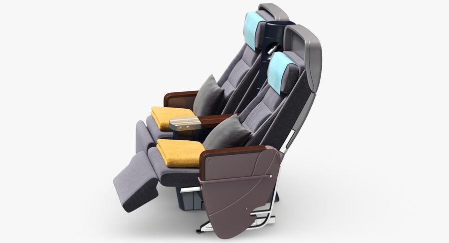 비행기 의자 royalty-free 3d model - Preview no. 11