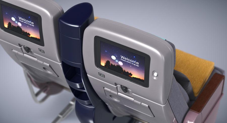 비행기 의자 royalty-free 3d model - Preview no. 7