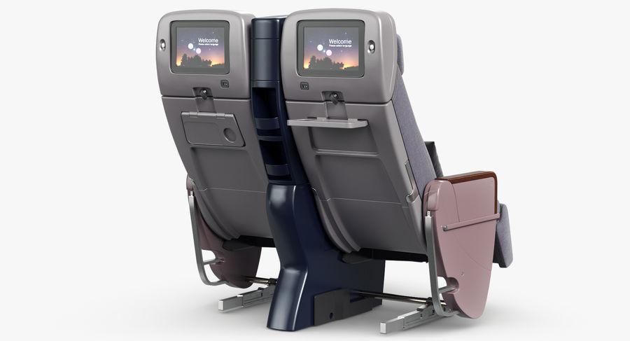 비행기 의자 royalty-free 3d model - Preview no. 10