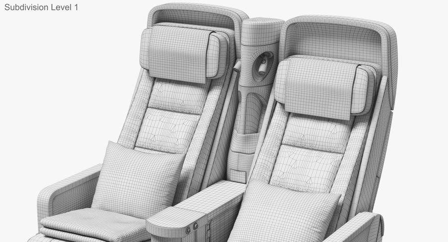 비행기 의자 royalty-free 3d model - Preview no. 41