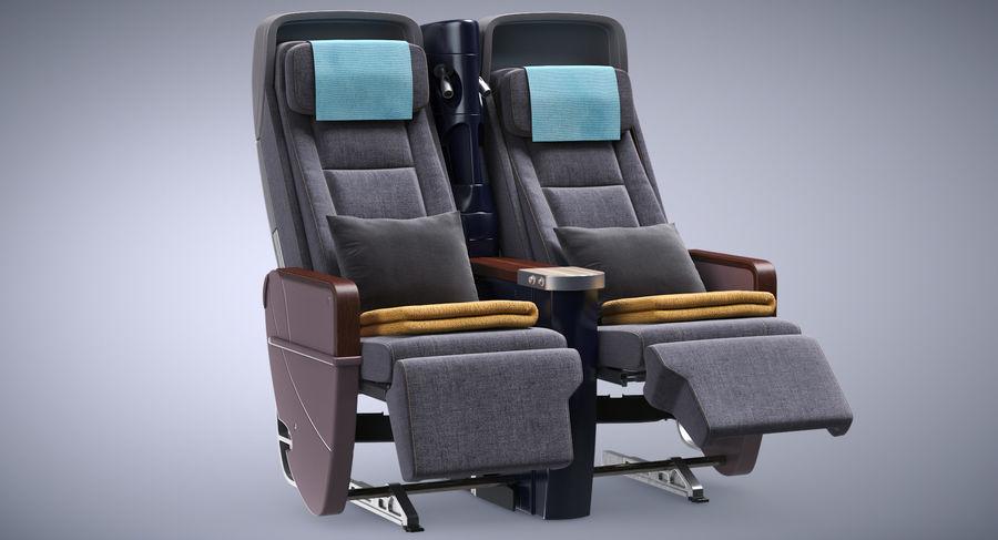 비행기 의자 royalty-free 3d model - Preview no. 4