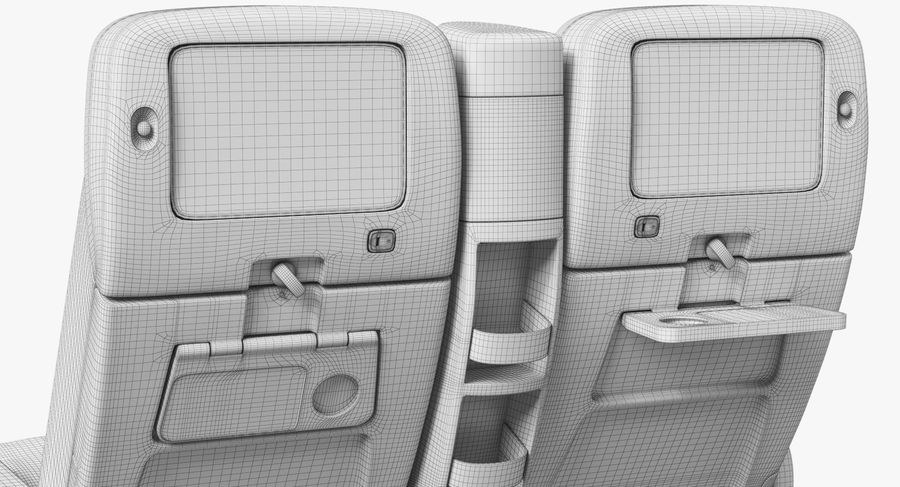 비행기 의자 royalty-free 3d model - Preview no. 47