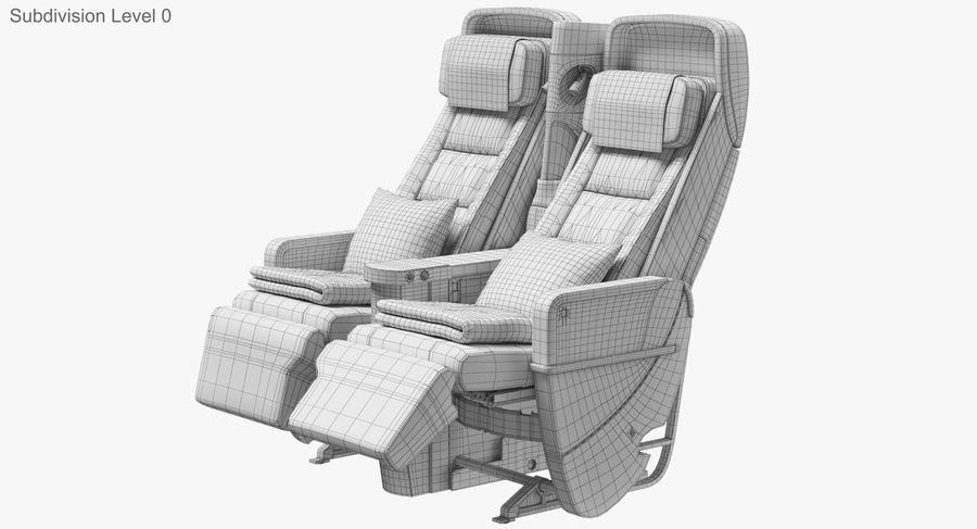 비행기 의자 royalty-free 3d model - Preview no. 34