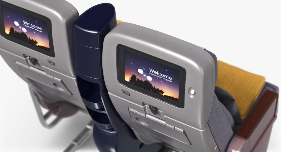 비행기 의자 royalty-free 3d model - Preview no. 30