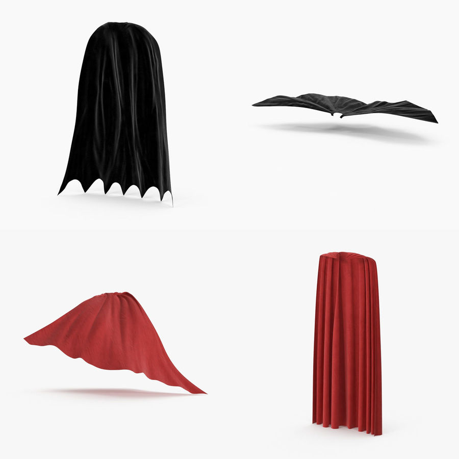 Superhjälte Capes Collection royalty-free 3d model - Preview no. 1