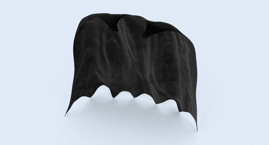 Superhjälte Capes Collection royalty-free 3d model - Preview no. 9