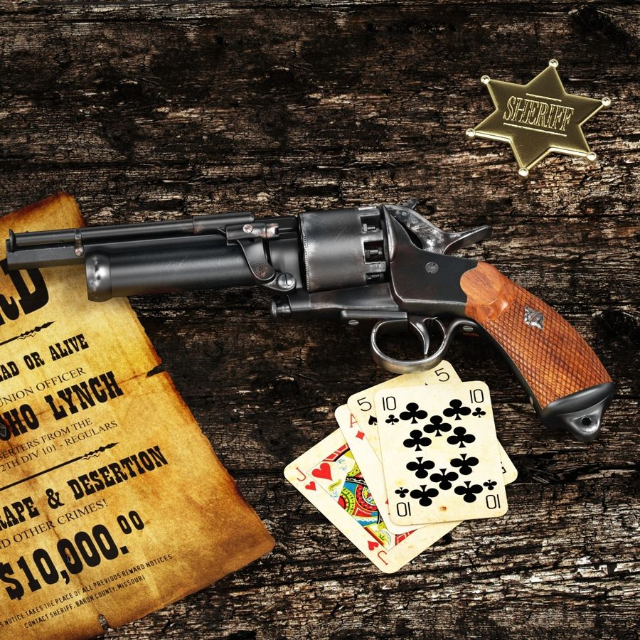 Revolver LeMat royalty-free 3d model - Preview no. 1