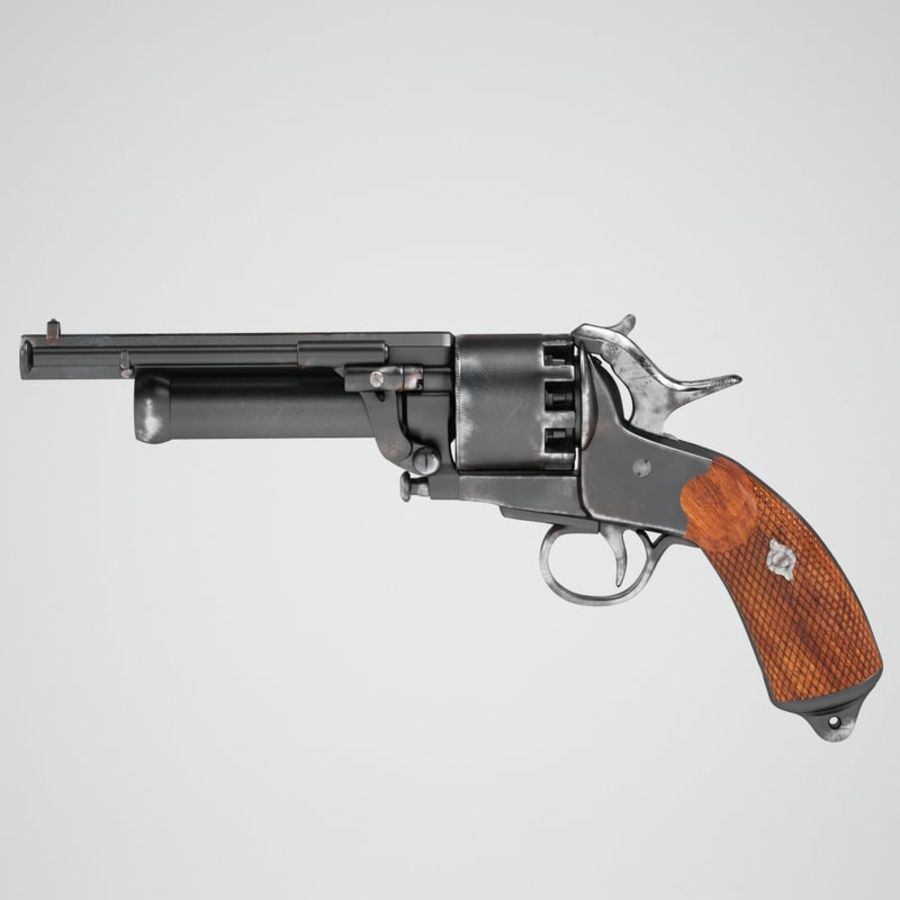 Revolver LeMat royalty-free 3d model - Preview no. 2