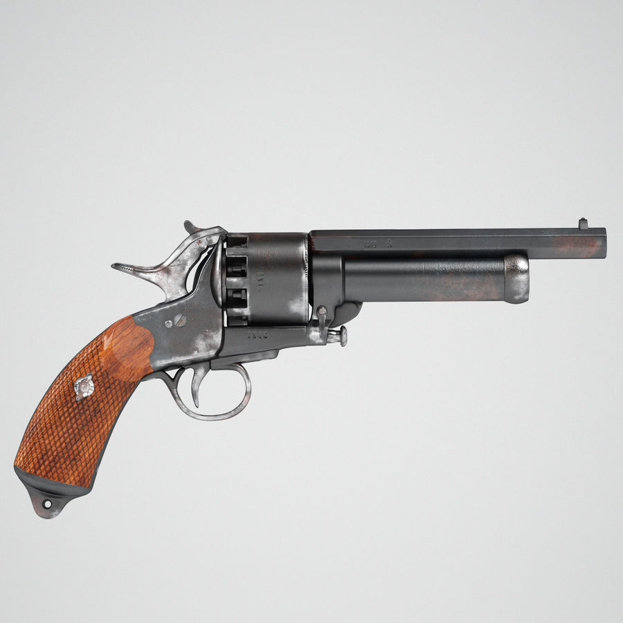Revolver LeMat royalty-free 3d model - Preview no. 5