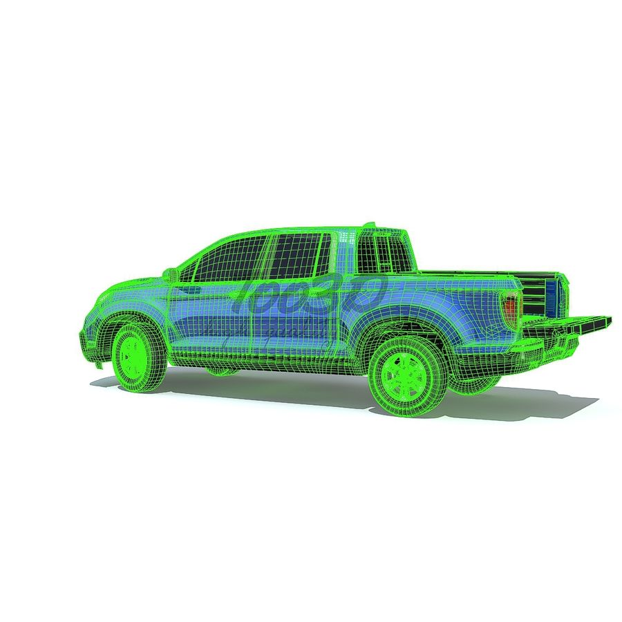 RidgeLine royalty-free 3d model - Preview no. 10