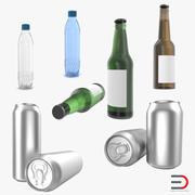 Flaskor 3D-modeller Samling 3 3d model