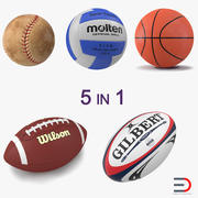 Sport Balls Collection 4 3d model