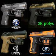 12支低聚游戏就绪PBR贝雷塔PX4手枪 3d model