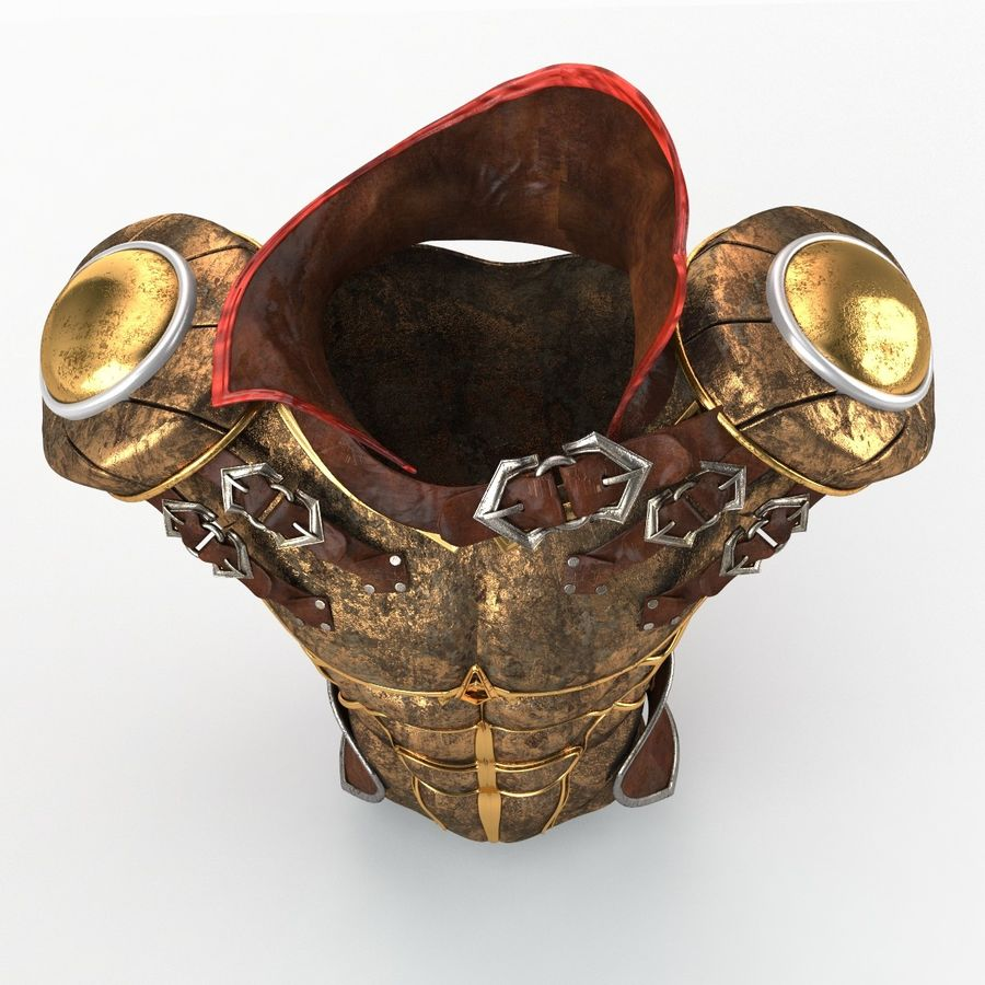 Body Armors royalty-free 3d model - Preview no. 6