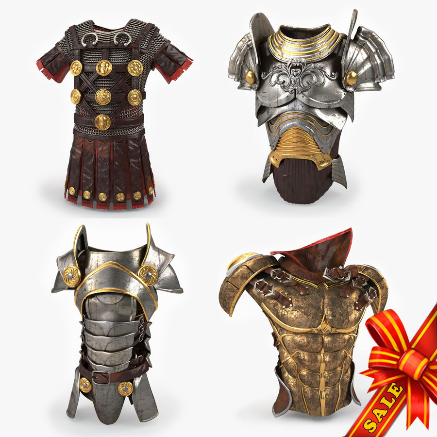 Body Armors royalty-free 3d model - Preview no. 1