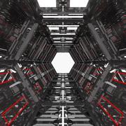 Corredor abstracto modelo 3d