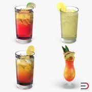 Cocktails 3D-modellencollectie 3d model
