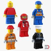 Lego Minifiguren-collectie 3d model