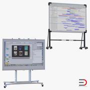 インタラクティブホワイトボード3Dモデルコレクション 3d model