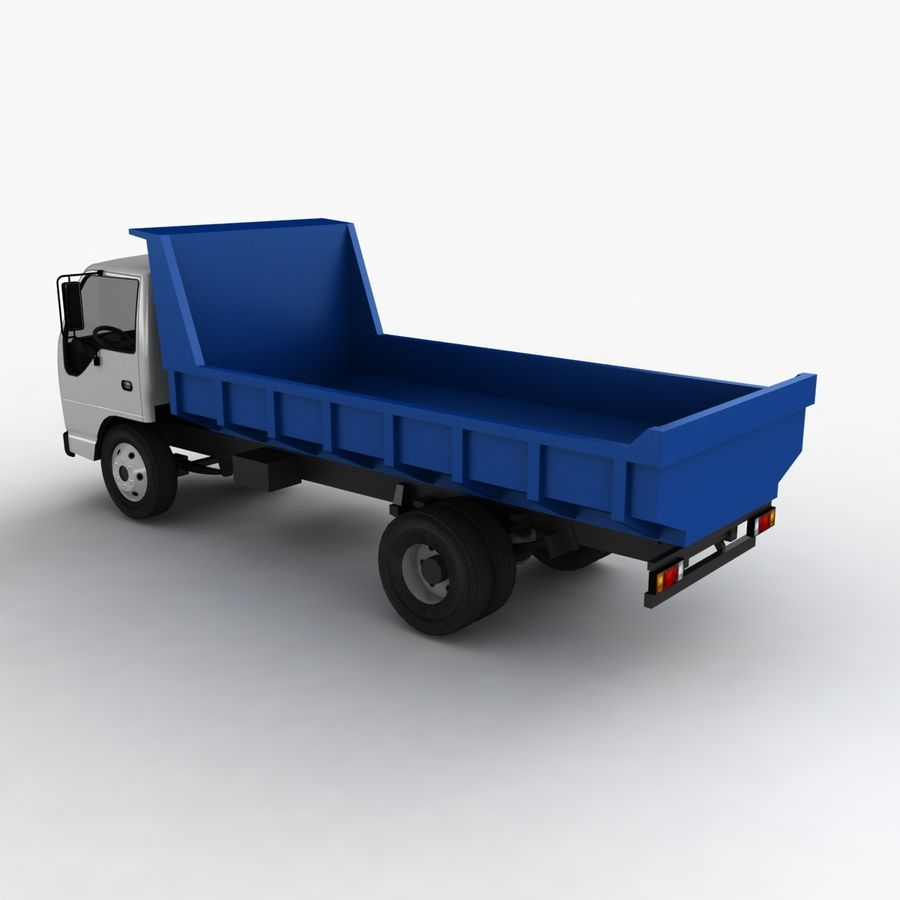 Isuzu Dump Truck royalty-free 3d model - Preview no. 8