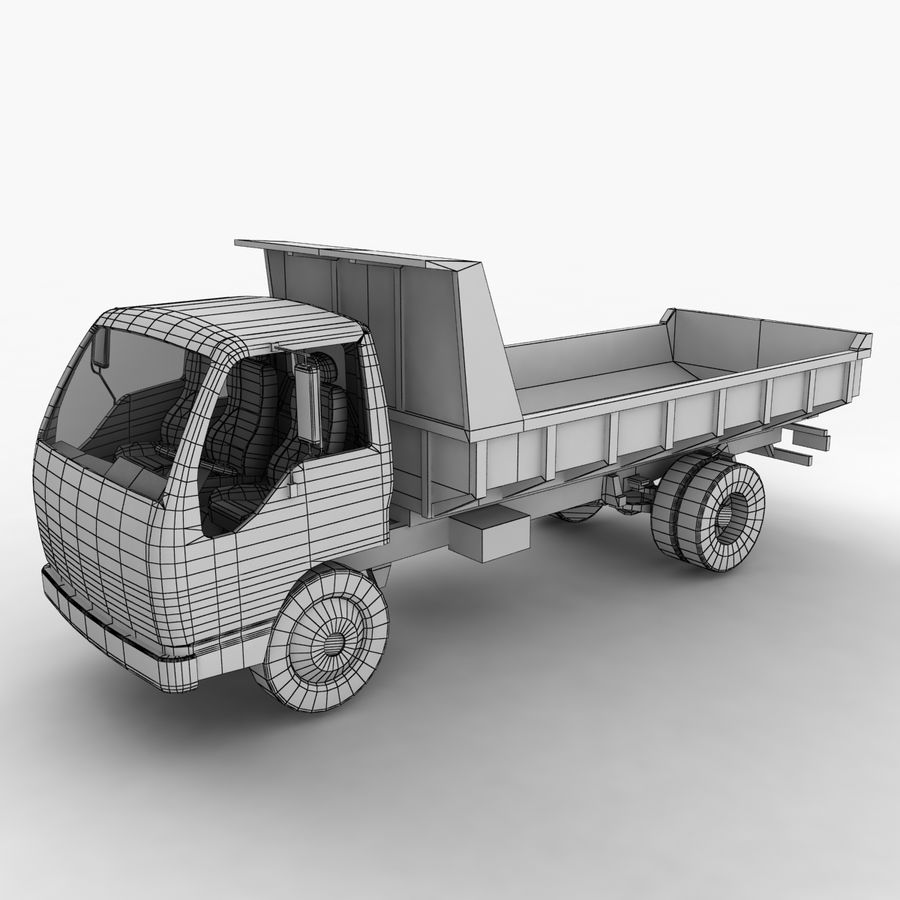 Isuzu Dump Truck royalty-free 3d model - Preview no. 3