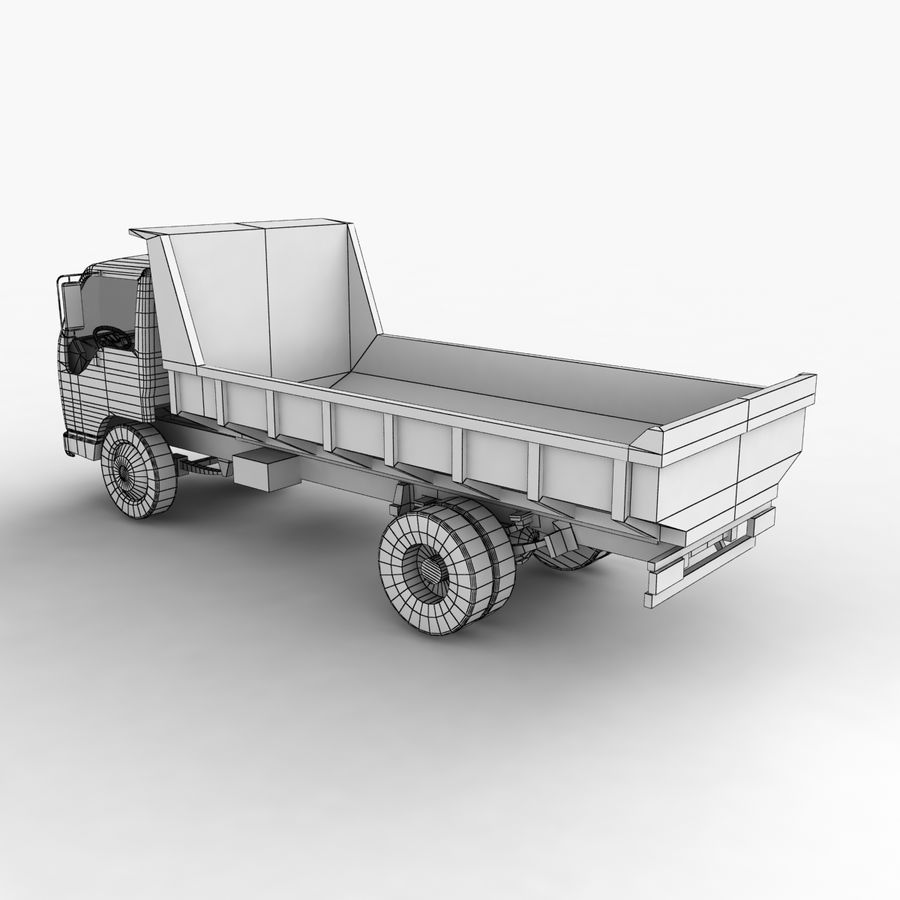 Isuzu Dump Truck royalty-free 3d model - Preview no. 14