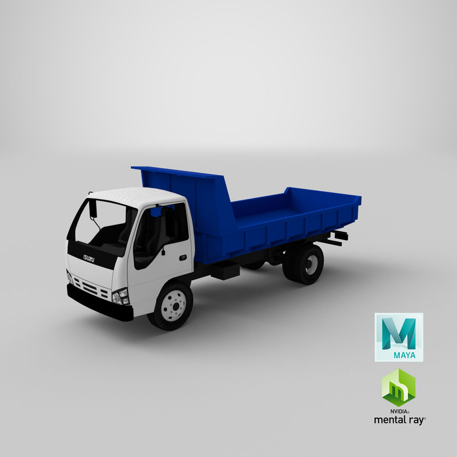 Isuzu Dump Truck royalty-free 3d model - Preview no. 19