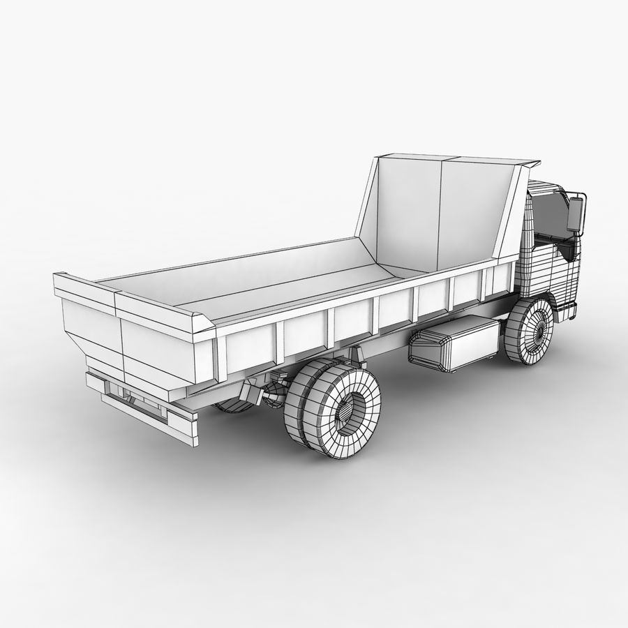 Isuzu Dump Truck royalty-free 3d model - Preview no. 13