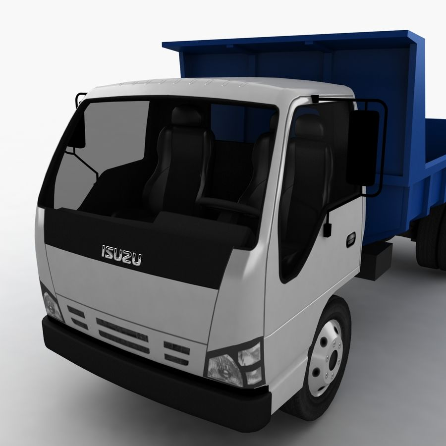 Isuzu Dump Truck royalty-free 3d model - Preview no. 9
