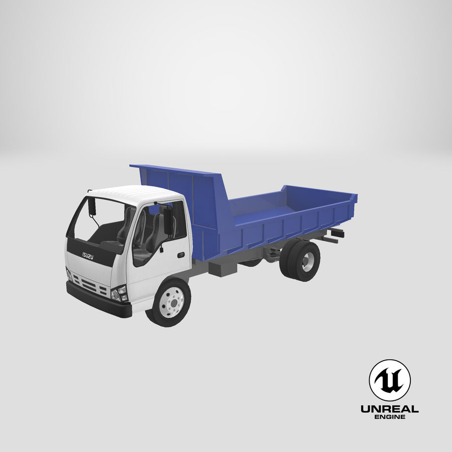 Isuzu Dump Truck royalty-free 3d model - Preview no. 22